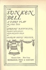 Cover of: The sunken bell: a fairy play in five acts