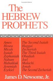 Cover of: The Hebrew Prophets
