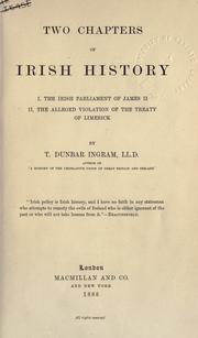 Cover of: Two chapters of Irish history