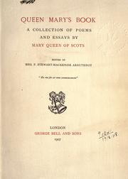 Cover of: Queen Mary's book