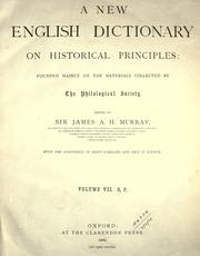 Cover of: A new English dictionary on historical principles (vol 7)