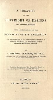 Cover of: A treatise on the copyright of designs for printed fabrics