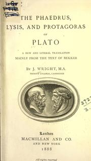 The Dialogues of Plato by Plato
