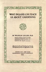 Cover of: What England can teach us about gardening