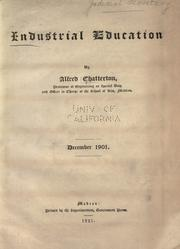 Cover of: Industrial education