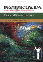 Cover of: First and Second Samuel