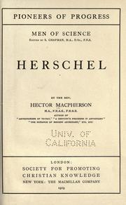Cover of: Herschel