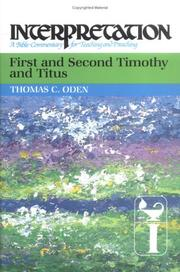 Cover of: First and second Timothy and Titus
