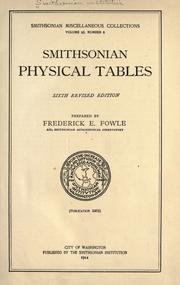 Cover of: Smithsonian physical tables