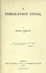 Cover of: A three-foot stool