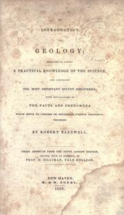 Cover of: An introduction to geology