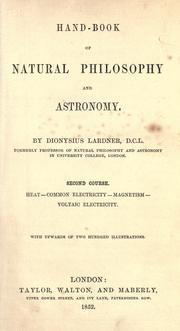Cover of: Hand-book of natural philosophy and astronomy