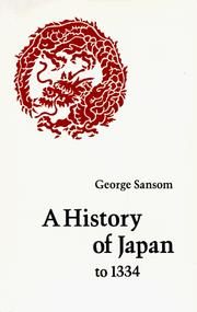 Cover of: A History of Japan to 1334
