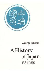 Cover of: A History of Japan, 1334-1615