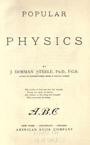 Cover of: Popular physics