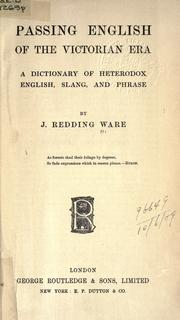 Cover of: Passing English of the Victorian era by James Redding Ware