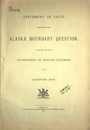 Cover of: Statement of facts regarding the Alaska Boundary question