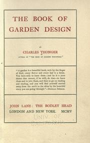 Cover of: The book of garden design