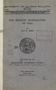Cover of: The ignition temperature of coal