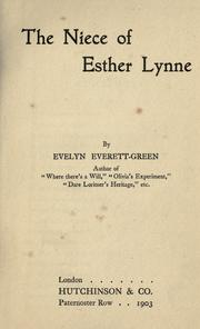 Cover of: The Niece of Esther Lynne
