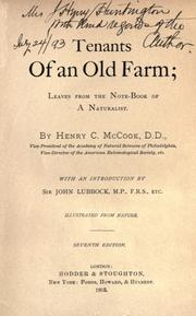 Cover of: Tenants of an old farm