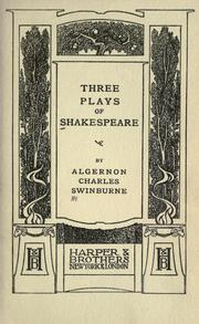 Cover of: Three plays of Shakespeare