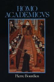 Cover of: Homo academicus