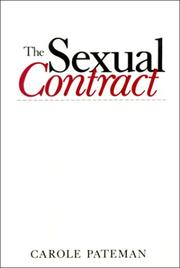 Cover of: The sexual contract