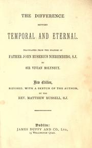 Cover of: The difference between temporal and eternal | Juan Eusebio Nieremberg