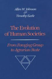 Cover of: Evolution of Human Societies | Allen W. Johnson