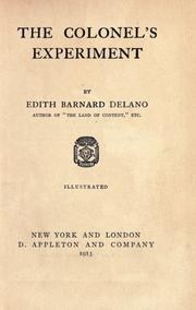 Cover of: The colonel's experiment