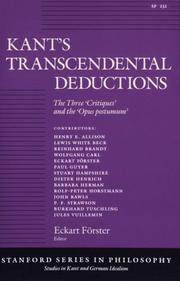 Cover of: Kant's Transcendental Deductions
