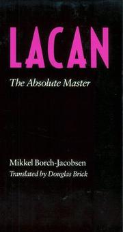 Cover of: Lacan