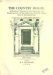 Cover of: The country house