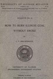 Cover of: How to burn Illinois coal without smoke