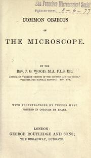 Cover of: Common objects of the microscope