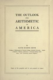 Cover of: The outlook for arithmetic in America