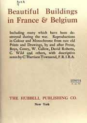 Cover of: Beautiful buildings in France [and] Belgium by Charles Harrison Townsend