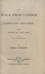 Cover of: A walk from London to Land's End and back