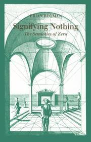 Cover of: Signifying Nothing