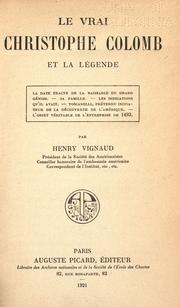 Cover of: Le vrai Christophe Colomb et la légende