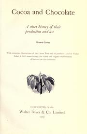 Cocoa and chocolate by Walter Baker & Company.