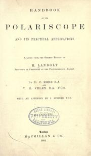 Cover of: Handbook of the polariscope and its pracitcal applications