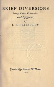 Cover of: Brief diversions