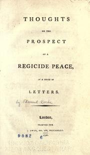Cover of: Thoughts on the prospect of a regicide peace: in a series of letters.