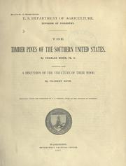 Cover of: The timber pines of the southern United States