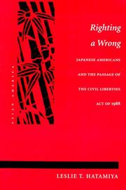 Cover of: Righting a Wrong