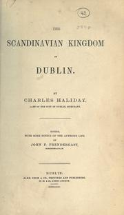The Scandinavian kingdom of Dublin by Charles Haliday