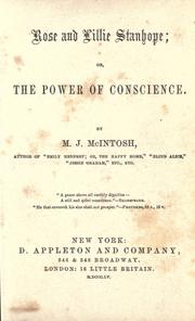 Cover of: Rose and Lillie Stanhope, or, The power of conscience