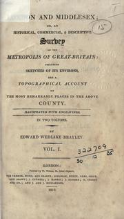Cover of: London and Middlesex